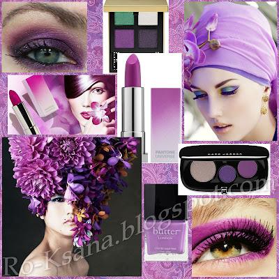 Макияж палитре Сияющая Орхидея Radiant Orchid цвет года 2014 модные украшения дизайн