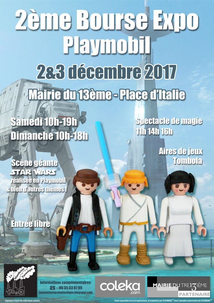 2nd Salon du Playmobil, Paris 13, 2 & 3 décembre 2017