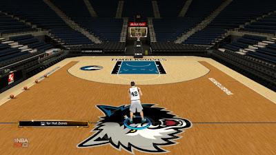 NBA 2K13 Minnesota Timberwolves Default Floor (Modded)