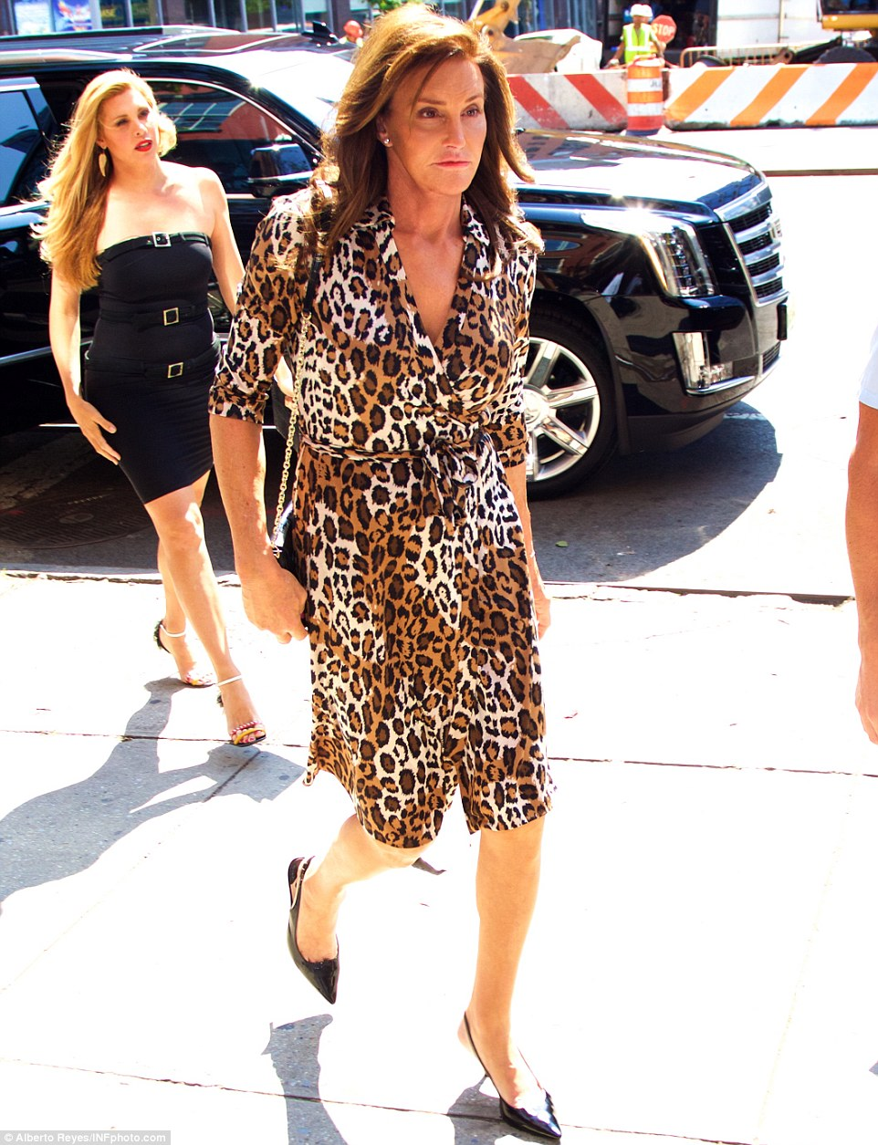 Caitlyn Jenner shows legs in two skimpy outfits in New York