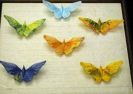 Бабочки оригами. Поделки из бумаги своими руками.