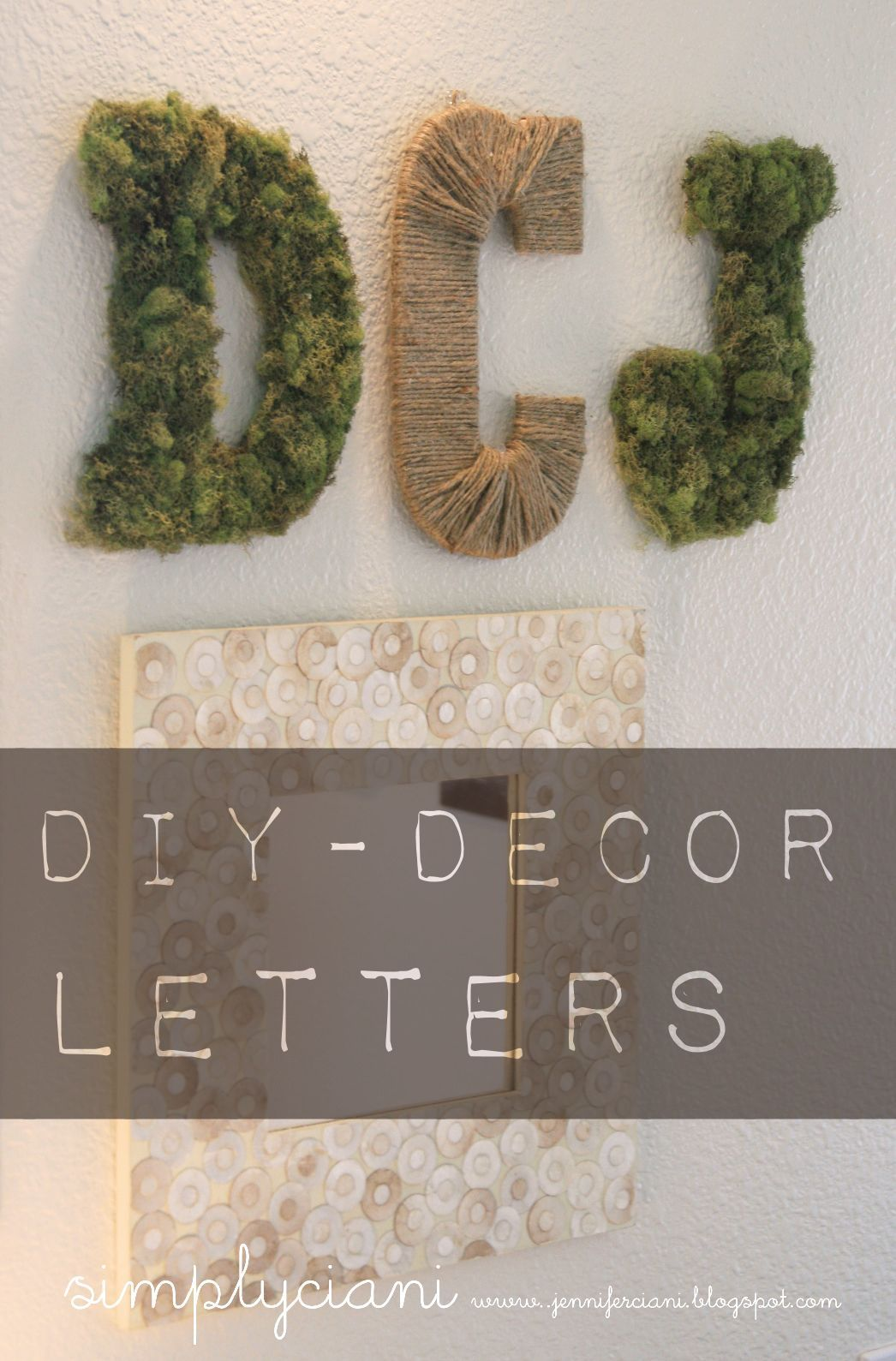 Diy Moss Amp Rope Letters Simply Ciani