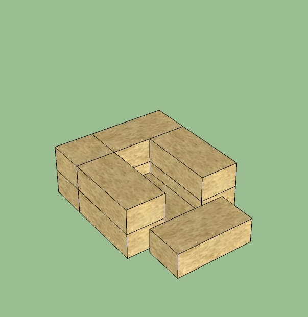 how to draw blocks stacked on top of each other