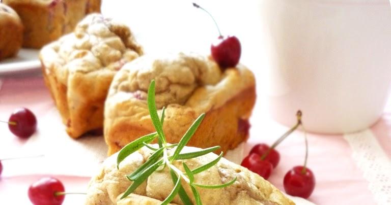 Catalina Bakes: Cherry Rosemary Yogurt Mini Loaves