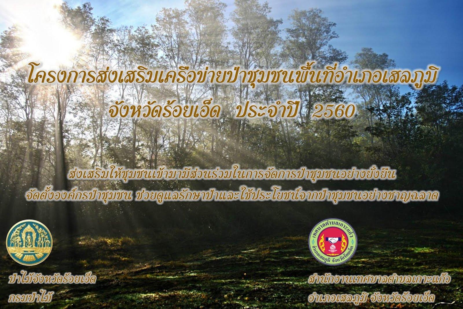 โครงการส่งเสริมการปลูกต้นไม้เพื่อเศรษฐกิจ