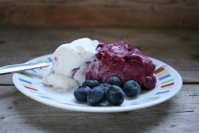 Blueberry Icebox Pie Slice
