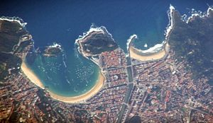 Vista aerea de la ciudad en la actualidad