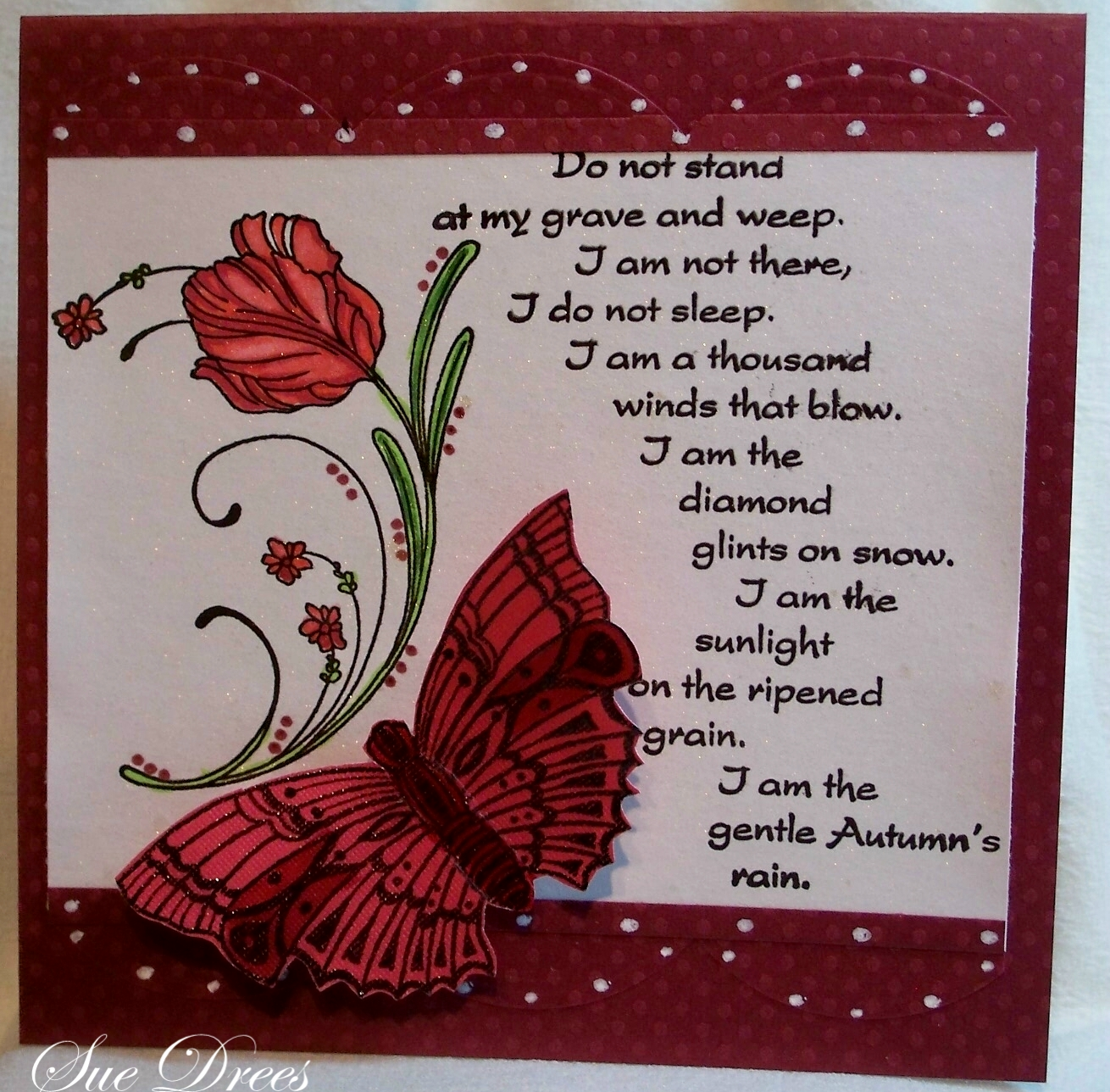 Sues Rubber Stamping Adventures Sympathy Card