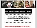 Tips Open A Restaurant In 8 weeks