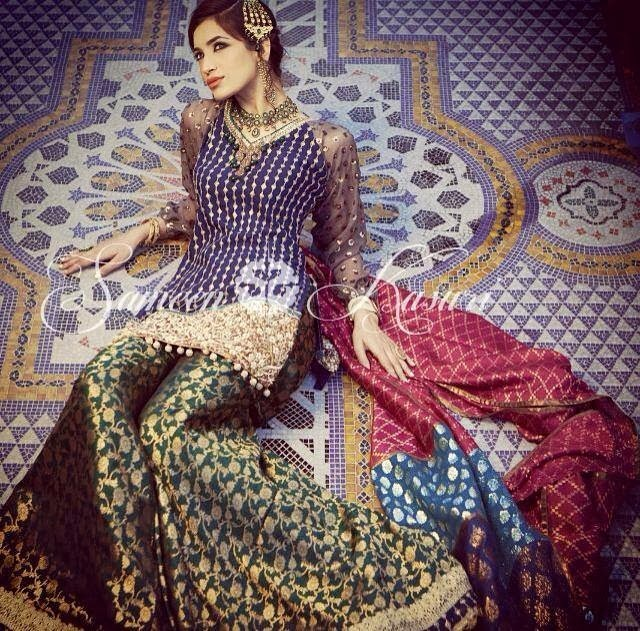 SameenKasuriSemiFormalCollection2014 15 wwwfashionhuntworldblogspotcom 006 - Formal & Semi Formal Wear Dresses By Smeen Kasuri