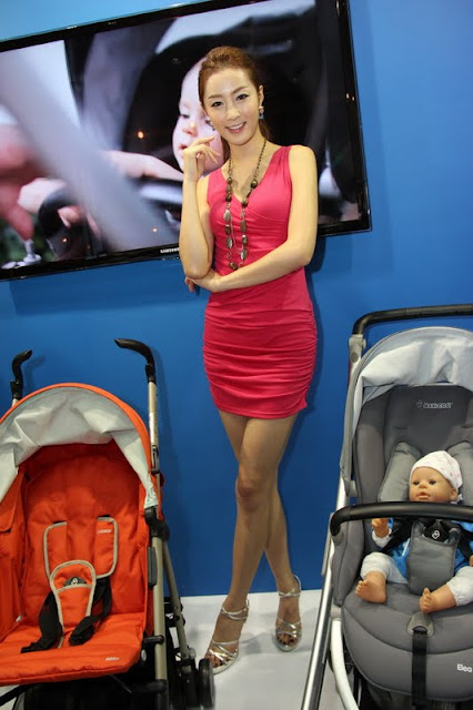 Eun Bin Yang - Red Dress At Baby Fair 2011