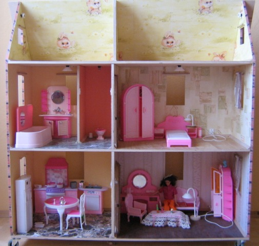 Кукольные дома и мебель своими руками