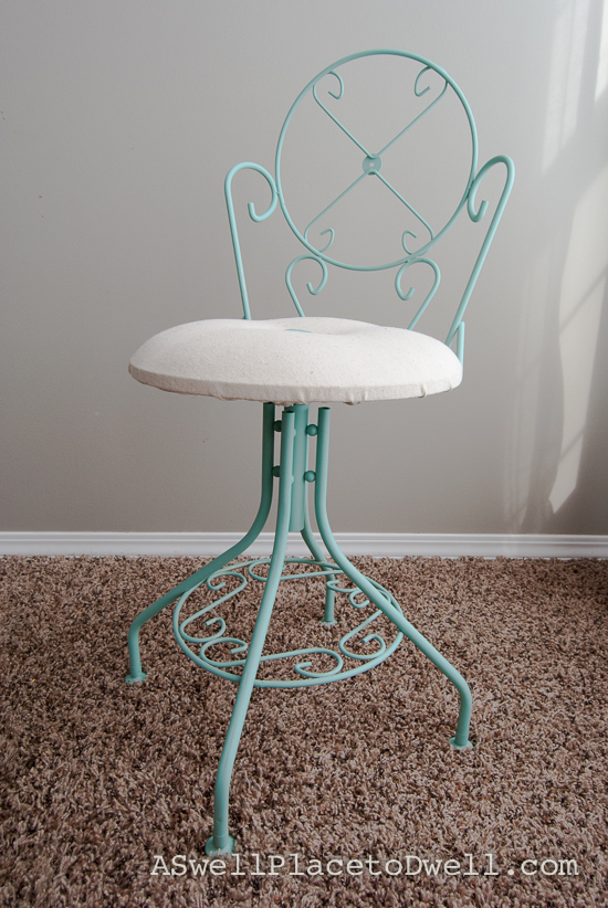 Refinished Vanity Chair at A Swell Place to Dwell