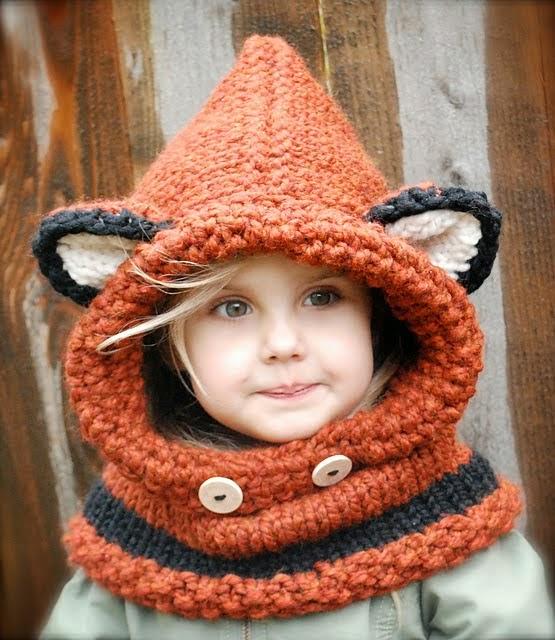 tricoter un snood capuche