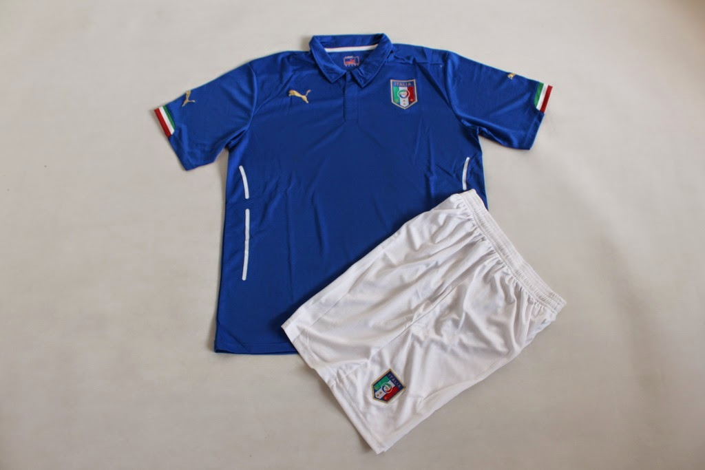 Jersey Italy Home New World Cup 2014 - forza bola jersey