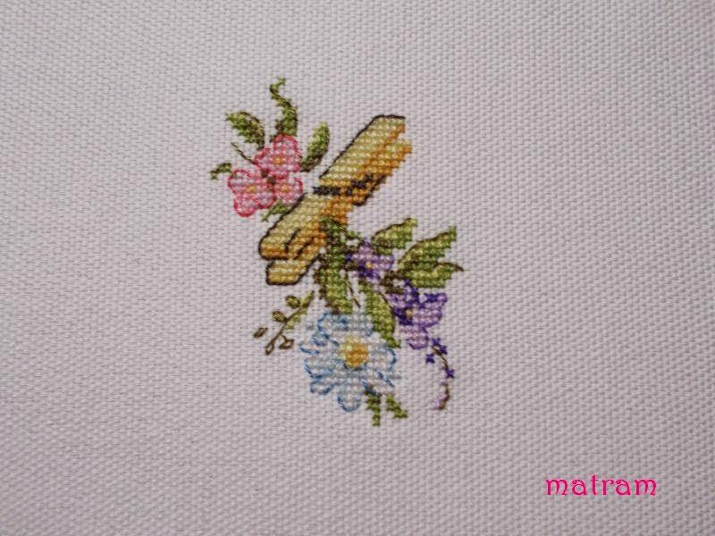 klamerka z kwiatkami