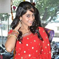 hot and gorgeous Regina cassandra latest cute stills in red designer saree