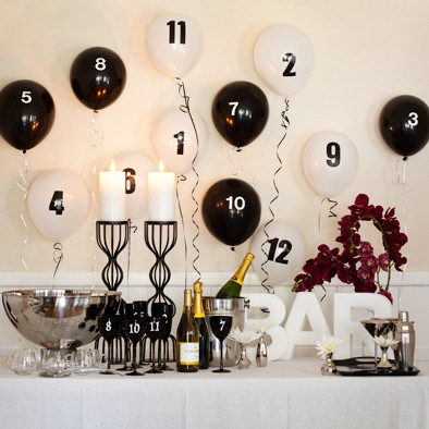 celebrating New Year's Eve at home balloon countdown