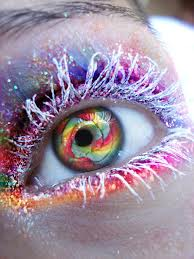 Colorful Snowy Eye Makeup