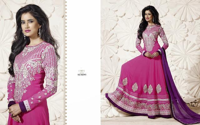 New Designer Embroidery Full Sleeve Long Anarkali Suit