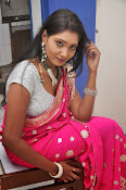Actress Nisha Latest Photos in Pink saree-thumbnail-4
