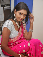 Actress Nisha Latest Photos in Pink saree-cover-photo