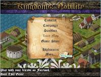 Tela inicial deste jogo de construir cidades