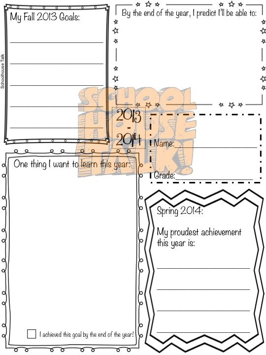 Schoolhouse Talk Beginning of the Year Speech Time Capsule – Time Capsule Worksheet