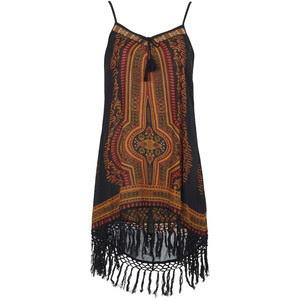 Vestido étnico com franjas na  topshop.com