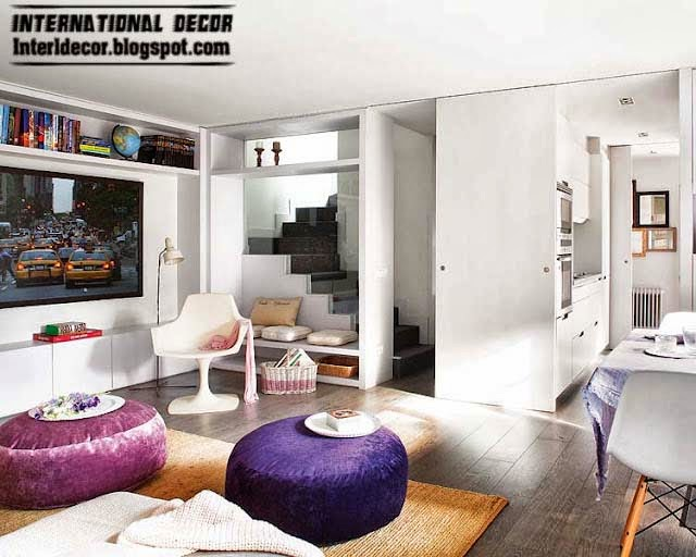 Modern House In Purple And Grey Interior Design