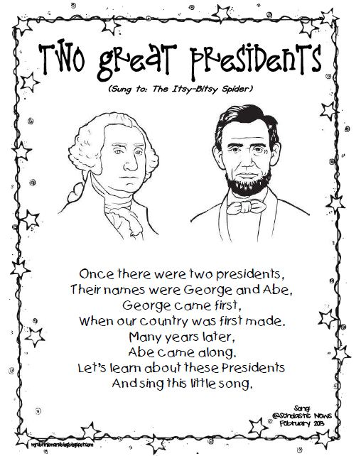 Mrs Brinkmans Blog February 2013 – Presidents Day Kindergarten Worksheets