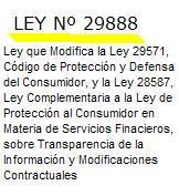 ley 29888