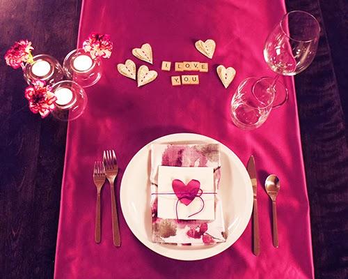 cena de san valentin