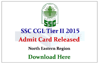SSC CGL Tier II 2015 Admit Card Released Download