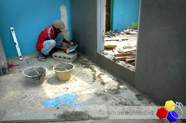 mknace unlimited™ | rapid plastering for new living room continued
