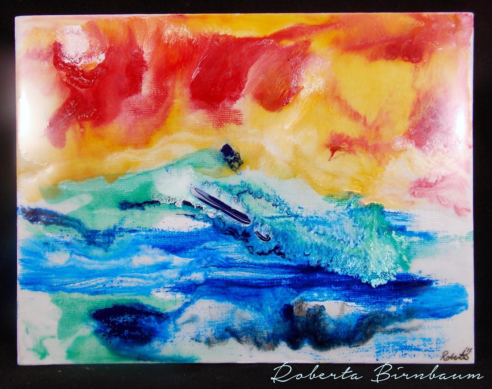 ETI painting with resin by Roberta Birnbaum