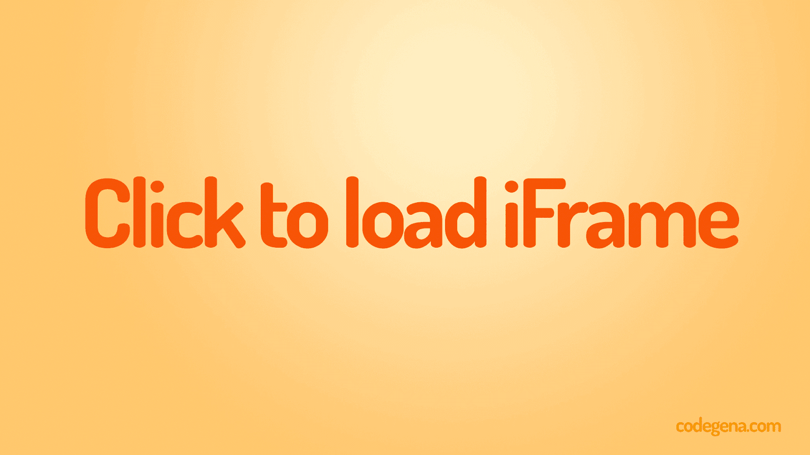 How to embed responsive and fast loading iframe to your site?