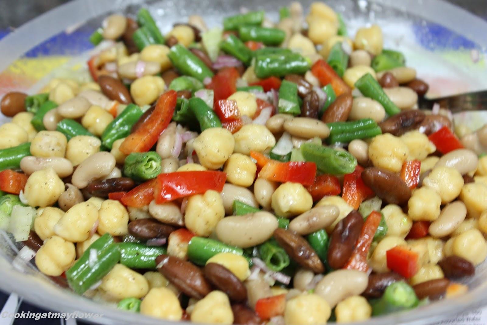 Cooking at Mayflower: Three bean salad