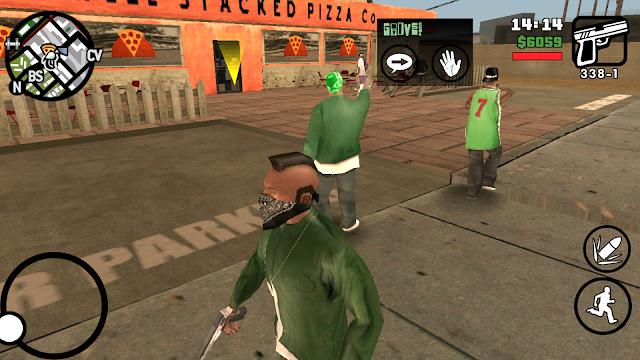 Grand Theft Auto: San Andreas v1.08 Apk + Datos SD Mod [Dinero + Trucos / Salvar partida]