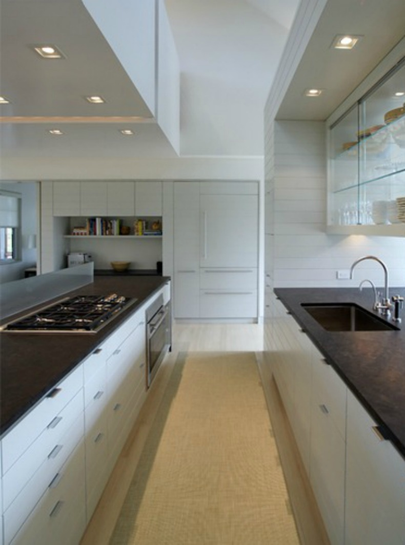 Coastal modern kitchen with cottage touches
