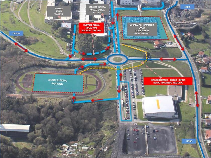 La pista de atletismo del campus de leioa pasa a ser un - Obra nueva leioa ...