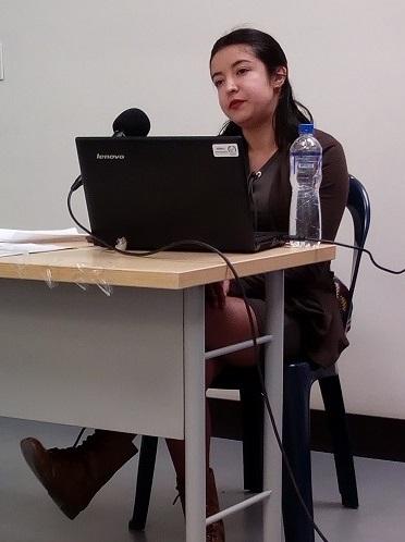 Yamile Ramírez de la dirección de fomento de la SCRD en el Consejo Ampliado de Arte y Cultura