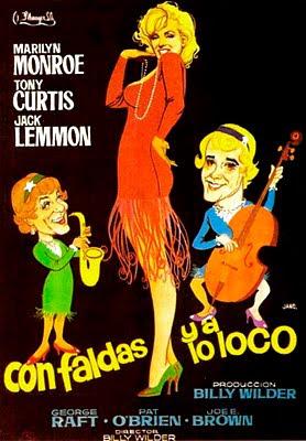 Cartel de la película Con faldas y a lo loco de 1959