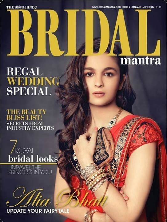 Alia Bhatt Bridal Mantra Magazine Photoshoot January 2014