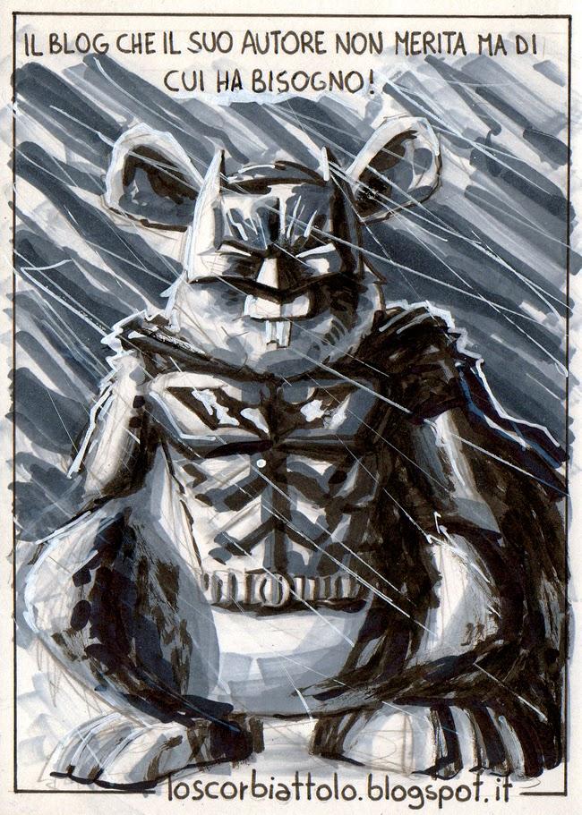 Lo Scorbiattolo batman cartolina postcard parodia