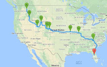 2016 Tour Route August - October