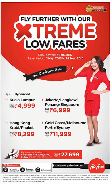 Fly further with Air Asia Xtreme low fare offer | Discount