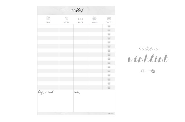 free printable, beauty wishlist, wishlist printable, beauty blogger printable