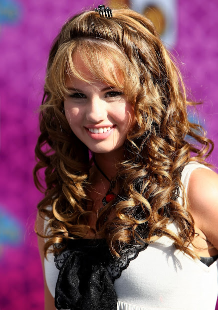 long curly brown hairstyles
