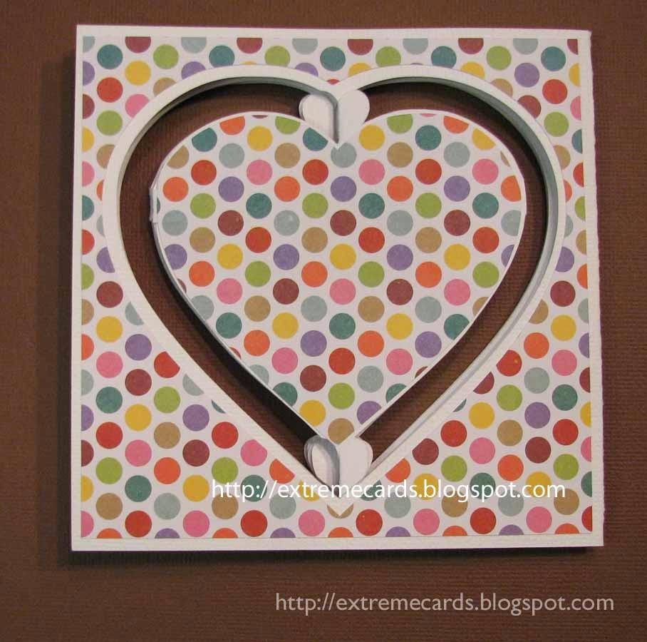heart accordion card closed